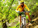 Mountain biker at Graham Hills Park