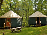 Staff accommodations are yurts