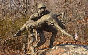 Part of the Vietnam Veterans' Memorial